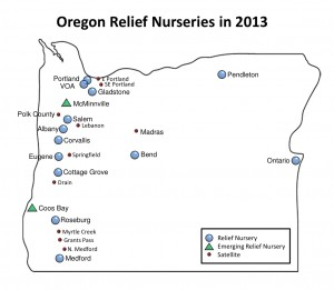 RN map Oregon 2013