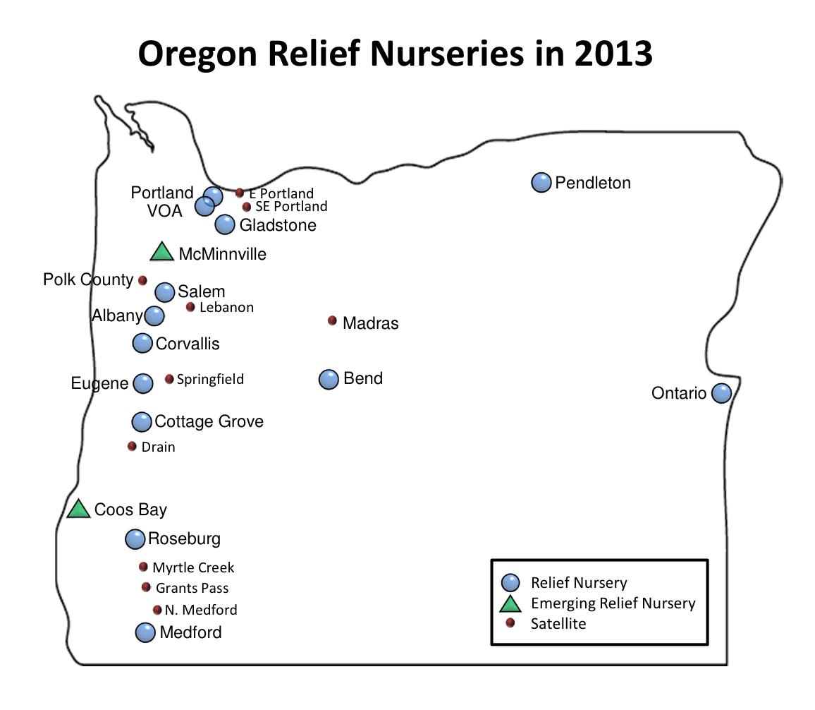 Preschool Partners Colorado Springs: RN Map Oregon 2013