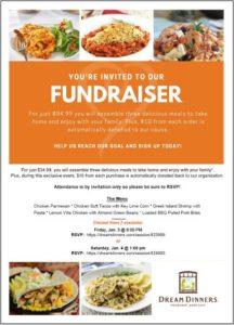 Dream Dinners fundraiser flyer
