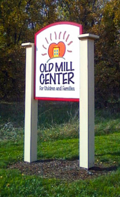 Old Mill Center sign