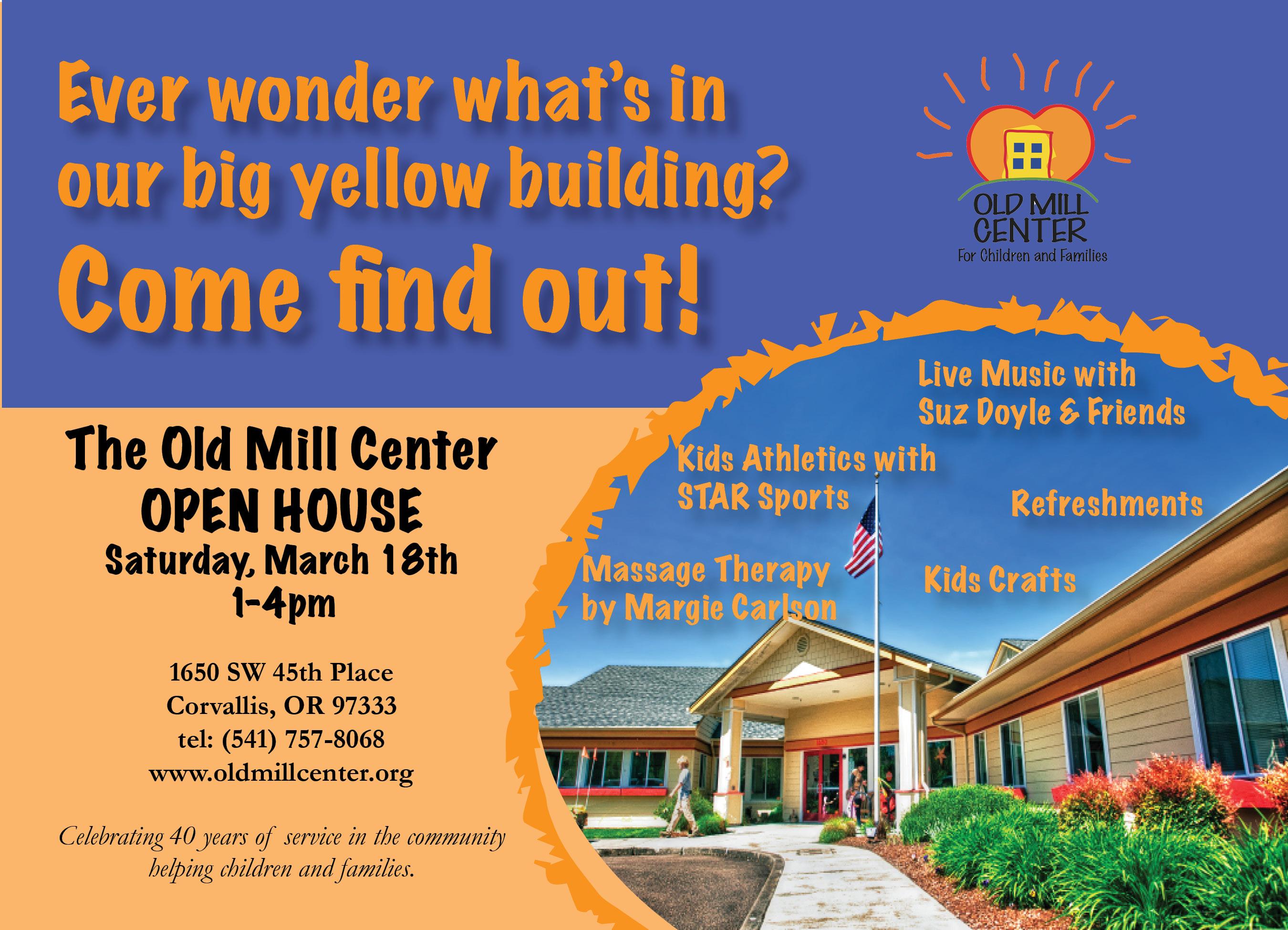 Open House Celebration - Old Mill Center