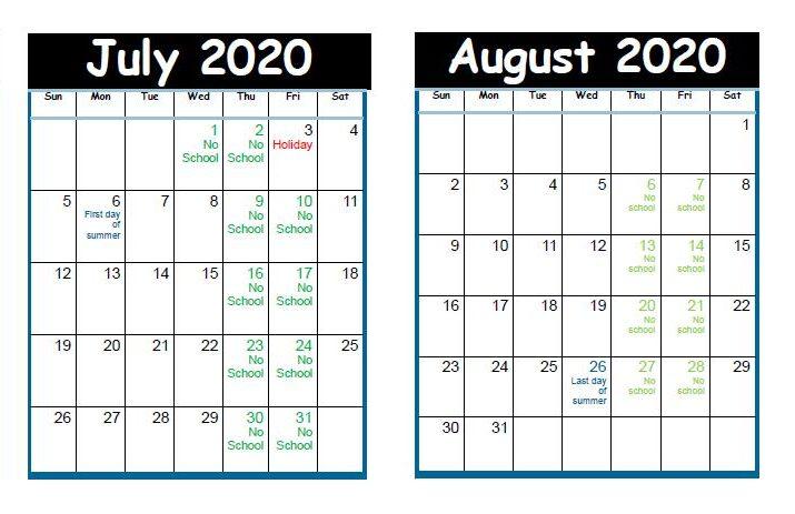 Preschool July-August 2020