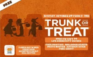 Trunk or Treat • Sunday, October 29, 5–7pm